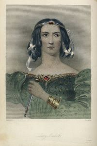 A print of Lady Macbeth from Mrs. Anna Jameson's 1832 analysis of Shakespeare's Heroines, Characteristics of Women.