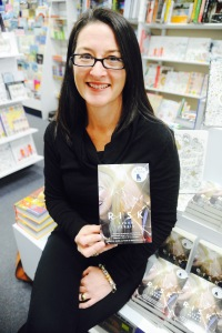 Fleur Ferris with her book Risk IW