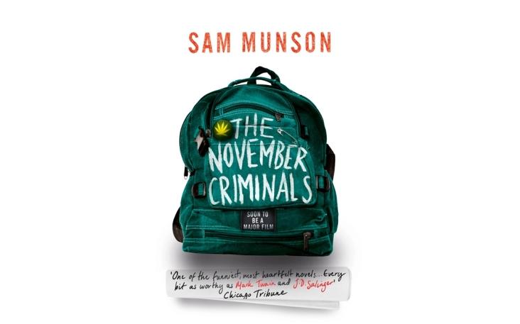 The November Criminals by Sam Munson (Hachette Australia, November 2015)
