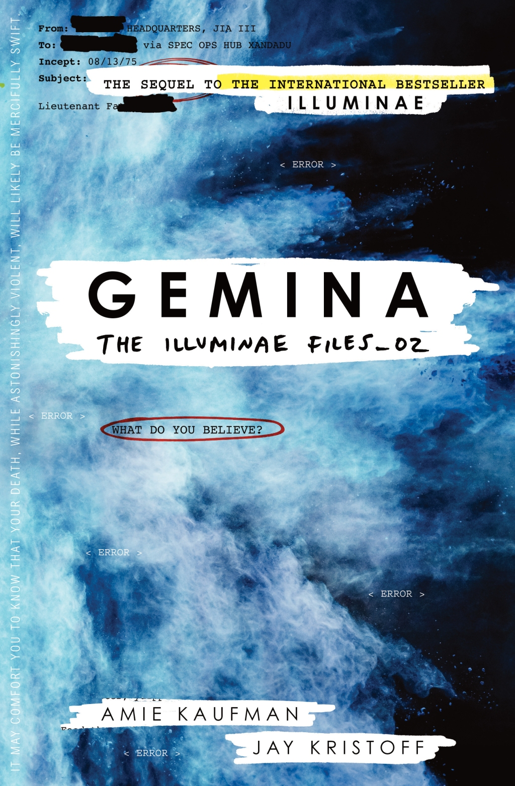 Gemina The Illuminae Files_02 by Amie Kaufman and Jay Kristoff book cover